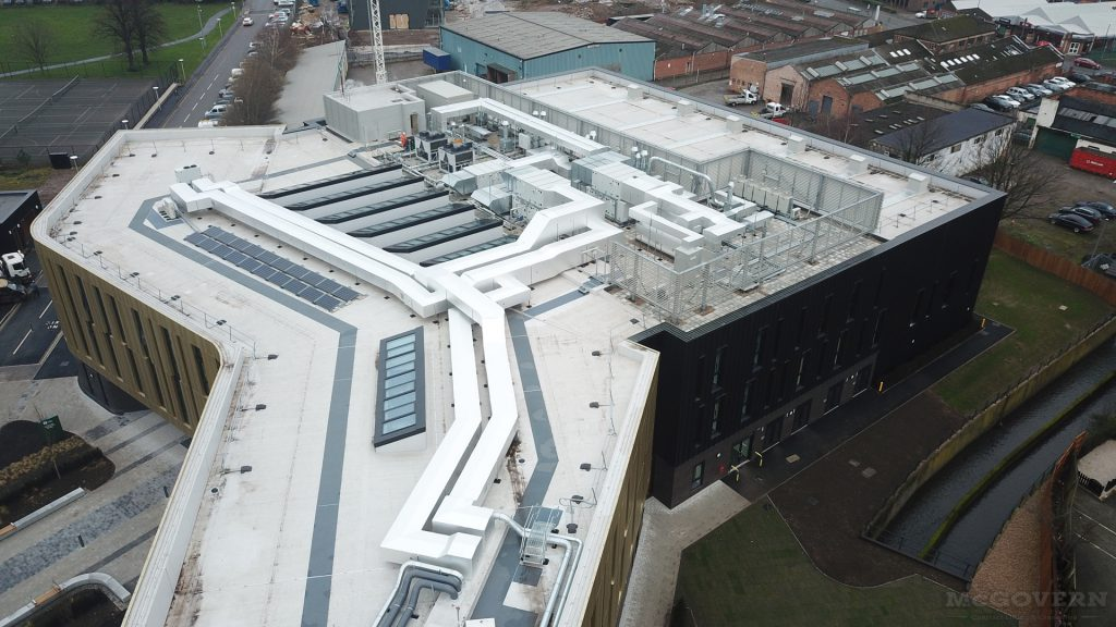 Nottingham University Advanced Manufacturing Building - Air Conditioning Installation